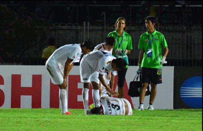 Judith Bulir - Physiotherapie und Sporttherapie aus Berlin Reinickendorf in Myanmar - Fußballmannschaft